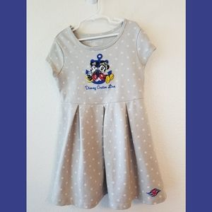 Disney Cruise Mickey Minnie Polka Dot Dress Sz Sm